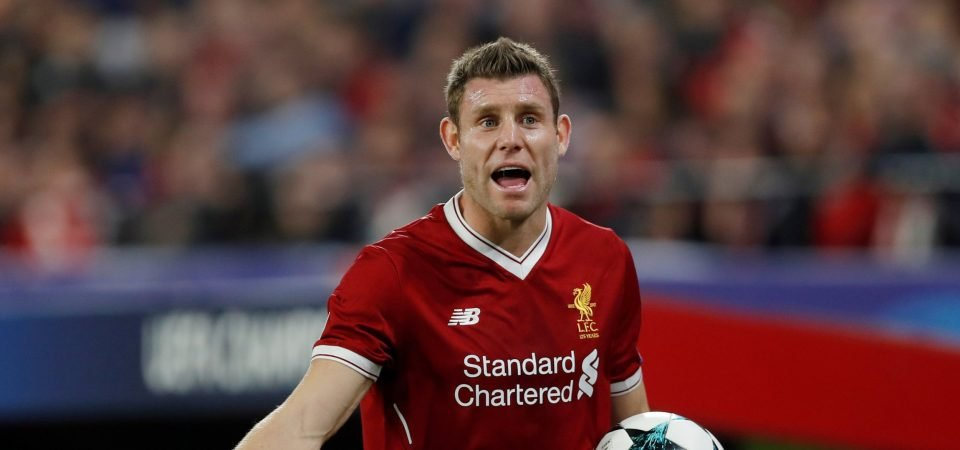 Liverpool fans pay tribute to James Milner after another fine performance