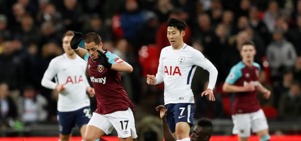 West Ham fans unhappy with Javier Hernandez after Tottenham draw
