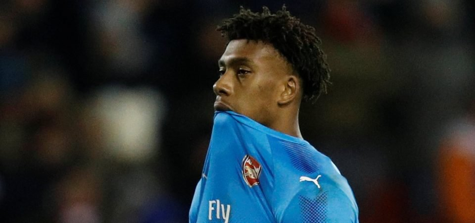 Arsenal fans left fuming by Alex Iwobi's performance in big cup upset