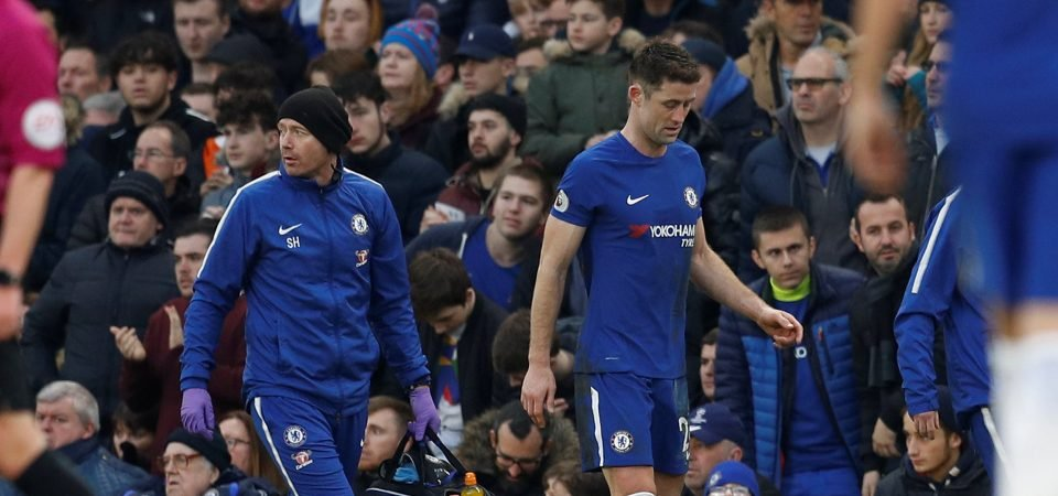 Cahill forced off injured against Leicester, Chelsea fans react