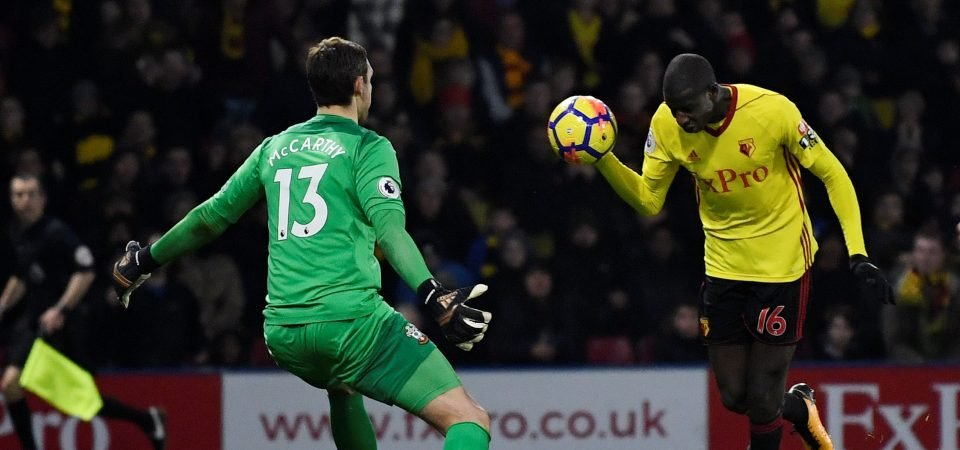 Southampton fans rage on Twitter over Watford's handball goal