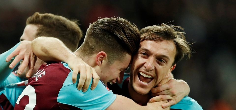West Ham fans loved Noble's Leicester performance
