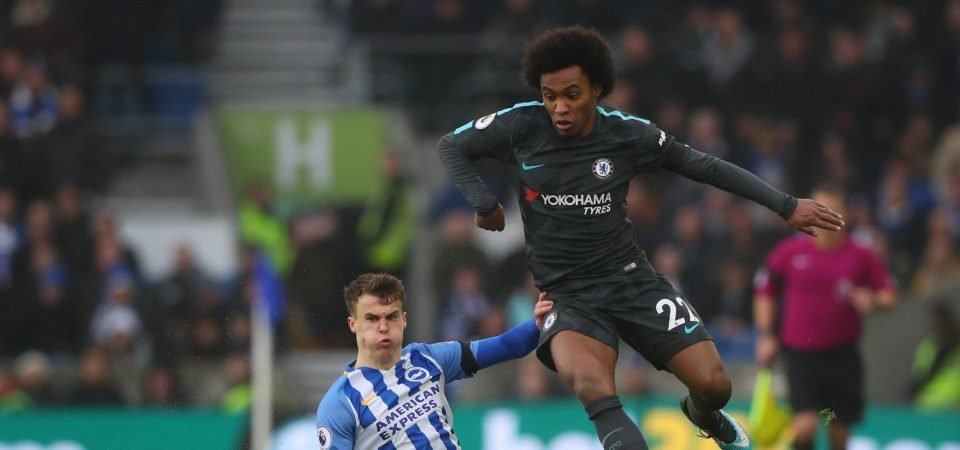 Chelsea fans delighted by Willian form after impressive win vs Brighton