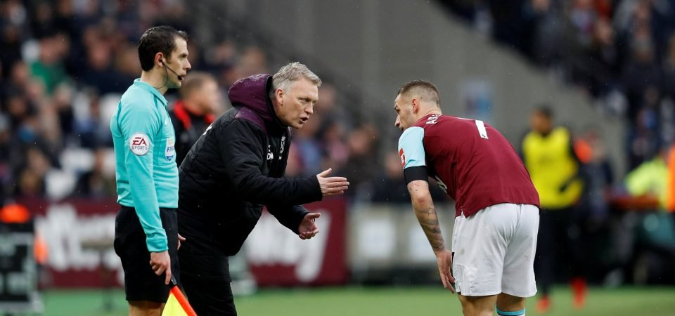 West Ham fans react as the in-form Marko Arnautovic picks up hamstring injury