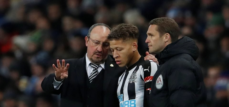 Newcastle fans did not enjoy Dwight Gayle's performance against Chelsea