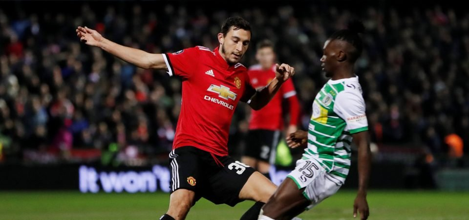 Man United fans urge club to sell Matteo Darmian after Yeovil display