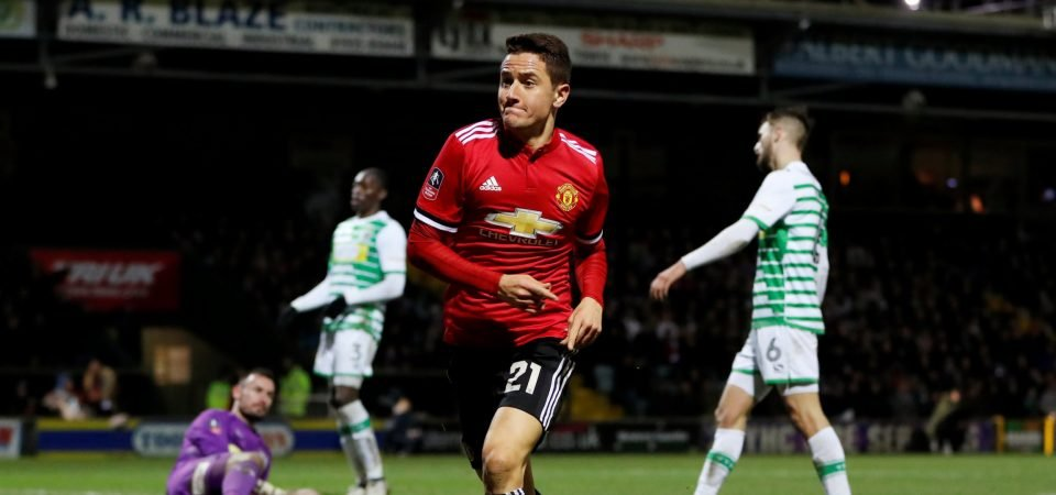 Man United fans urge club to sell Ander Herrera after Yeovil display