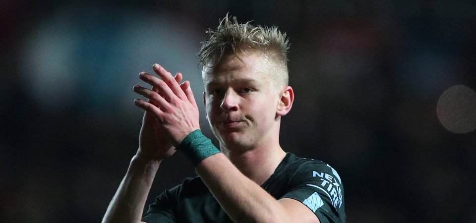 Revealed: Majority of Man City fans want Zinchenko to start ahead of Danilo in Carabao Cup final