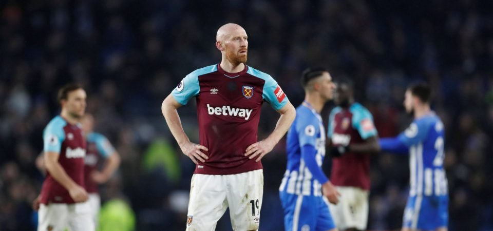 West Ham fans react as James Collins picks up injury in Dagenham friendly