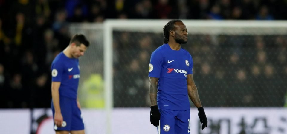 Chelsea fans destroy Victor Moses after first-half performance vs West Brom