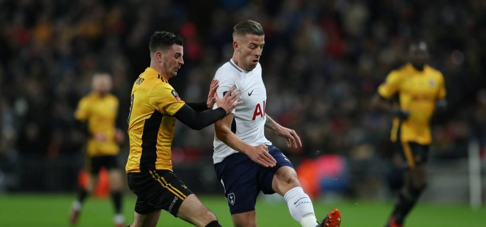 Tottenham fans react as club admits defeat in bid to keep Toby Alderweireld