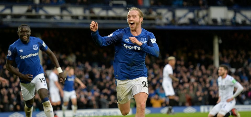 Everton fans loved Tom Davies' performance in vital win over Palace