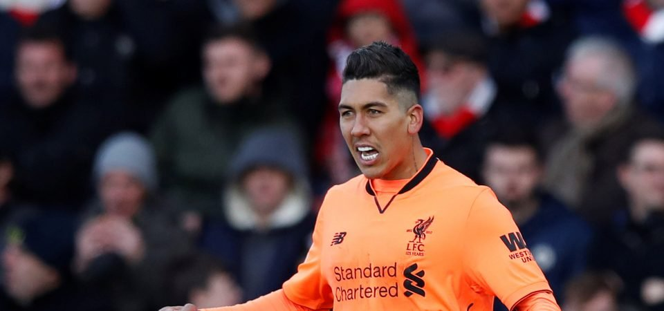 Pundit claims Liverpool star Firmino is not far off Suarez quality