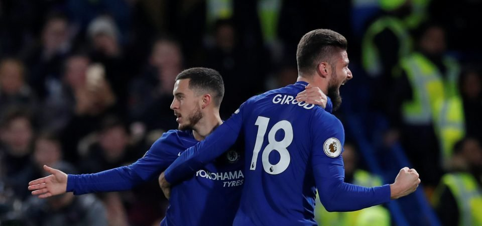 Giroud shows he can be Hazard's perfect foil as Chelsea bounce back vs West Brom