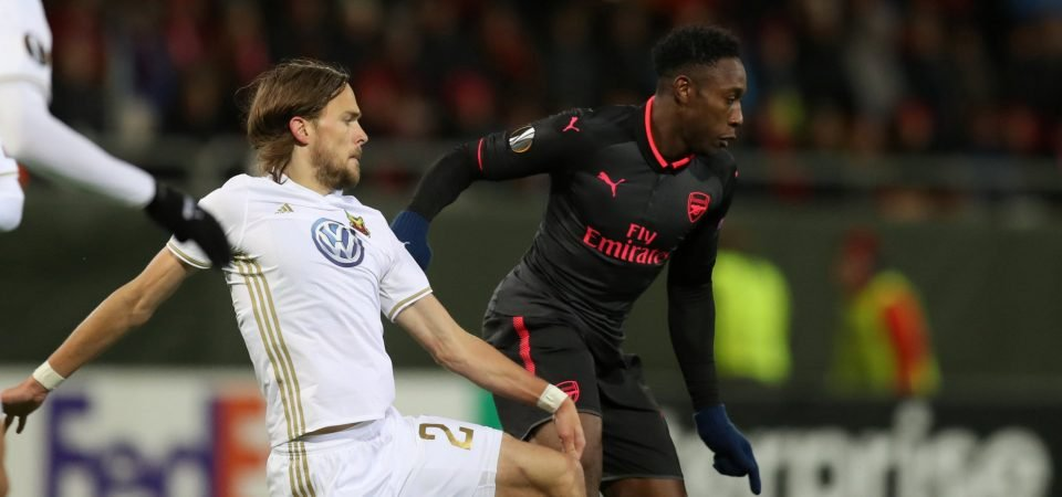 Arsenal fans weren't impressed with Danny Welbeck's Europa League performance