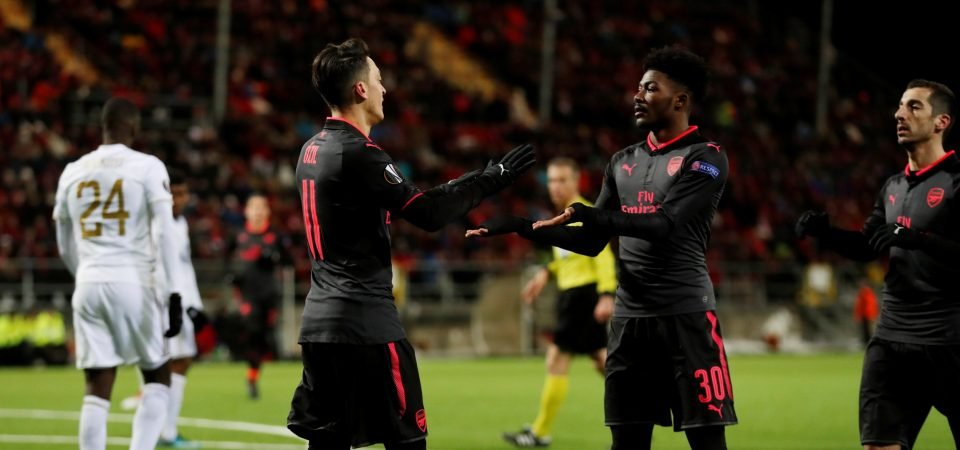 Maitland-Niles continues to impress as Arsenal ease past Ostersund
