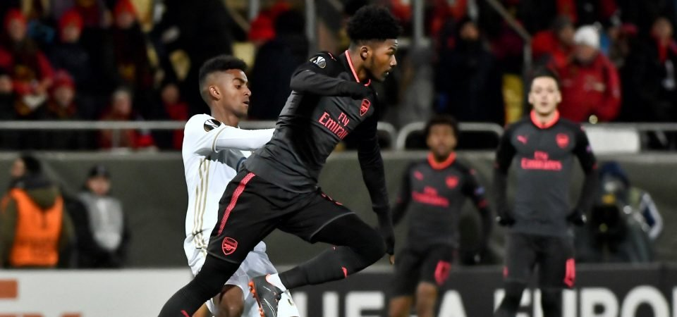 Arsenal fans enjoyed Maitland-Niles' performance during Europa League win