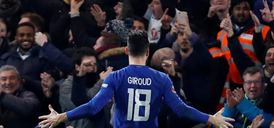 Revealed: 52% of Chelsea fans want Giroud to start up front vs Man United