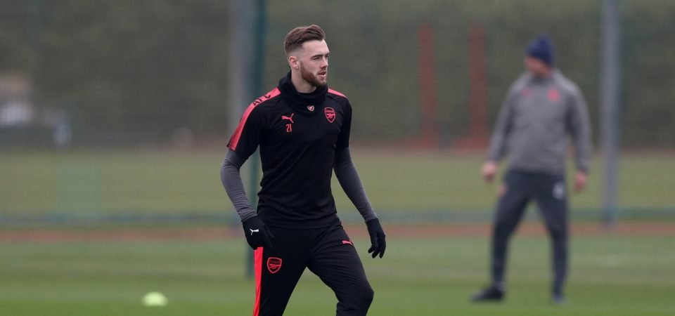 Arsenal fans hated Calum Chambers' performance on Thursday night