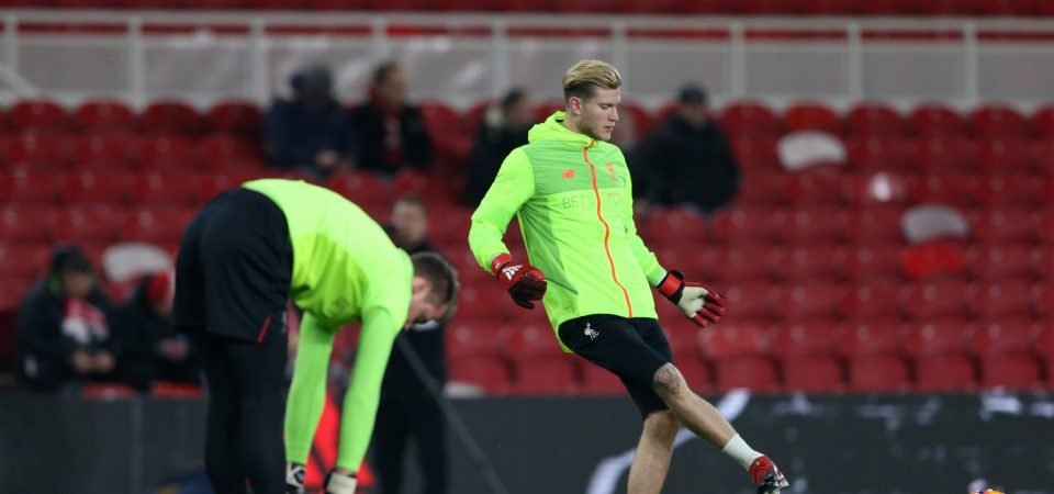 Liverpool fans debate who out of Mignolet and Karius should be kept at Anfield