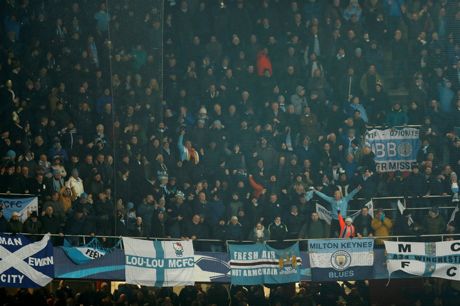 Man City fans Champions League