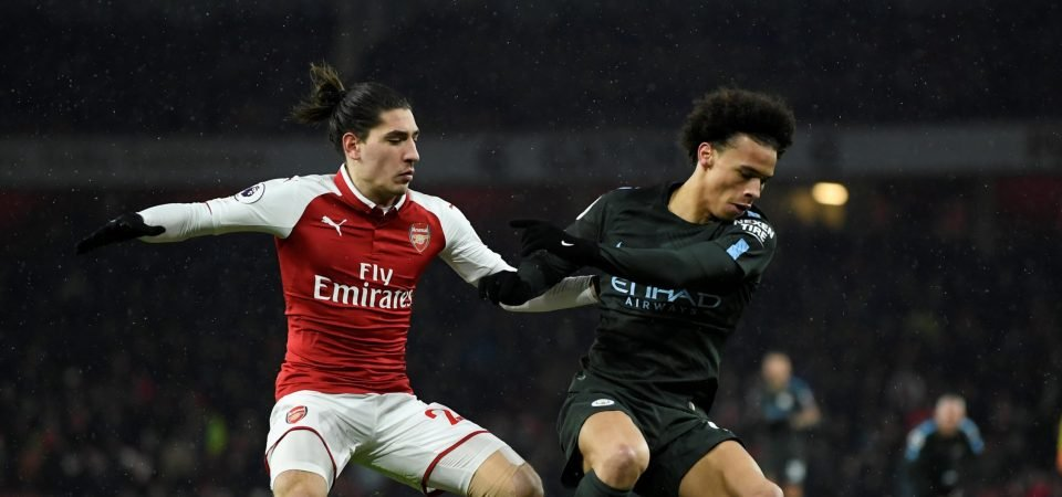 Arsenal fans hated Hector Bellerin's performance vs Man City
