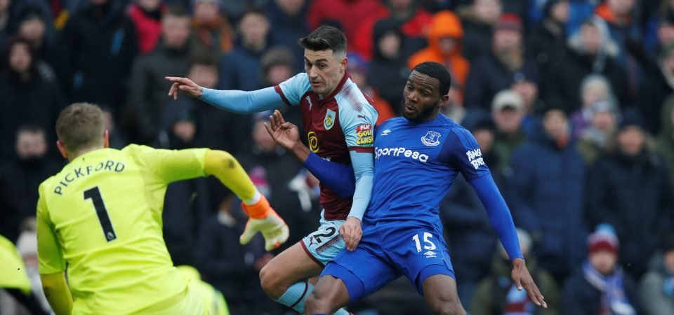 Everton fans destroy Cuco Martina after difficult afternoon away to Burnley