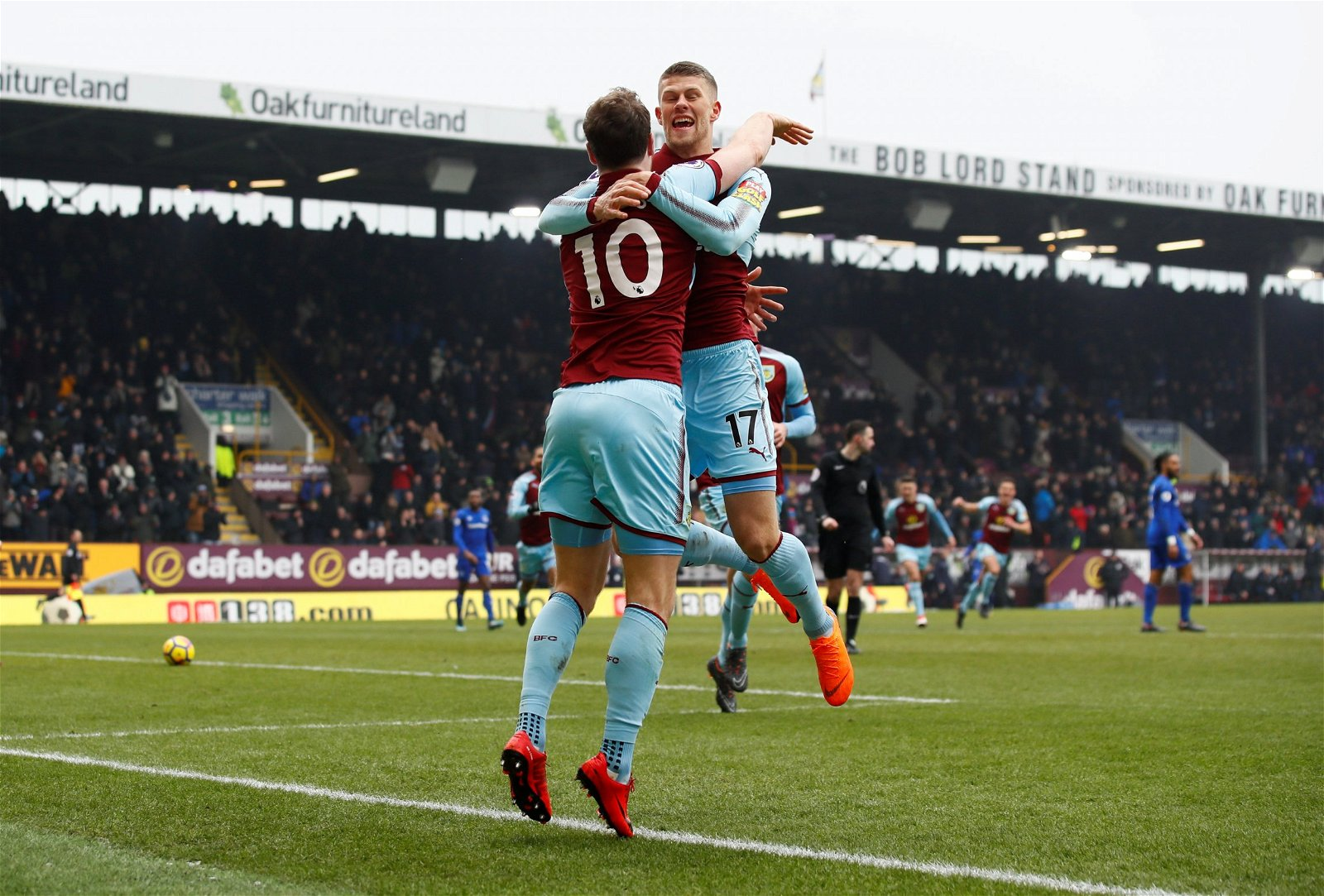 Burnley winger Johann Gudmundsson celebrates