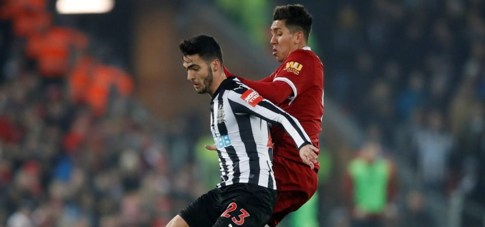 Newcastle fans didn't enjoy Mikel Merino's performance against Liverpool