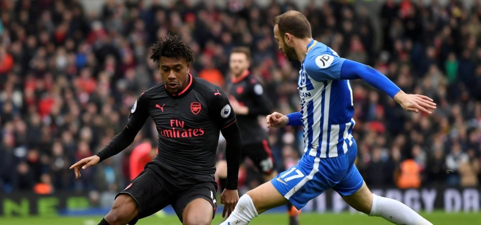 Arsenal fans have completely lost patience with Alex Iwobi