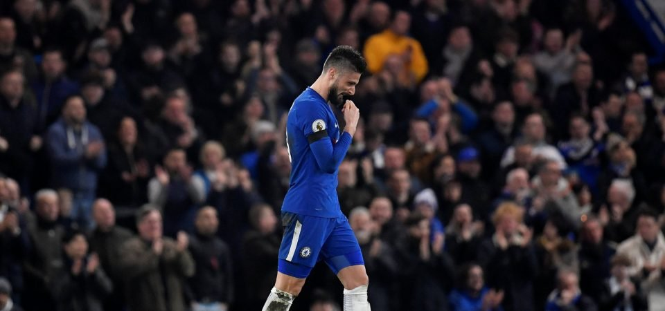 Chelsea fans keen for Giroud to start ahead of Morata following outing against Palace