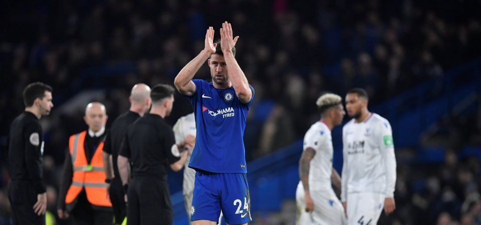 Chelsea fans want the unfancied Gary Cahill to start in defence against Barcelona