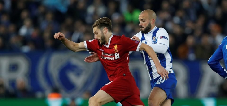 Liverpool fans didn't enjoy Adam Lallana's display against Porto on Tuesday night