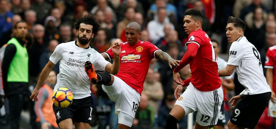 Man United fans loved the way Ashley Young thwarted Mohamed Salah on Saturday