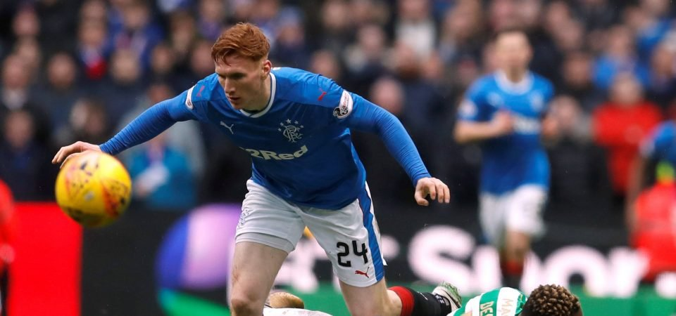 Rangers fans were gutted by David Bates' injury on Sunday
