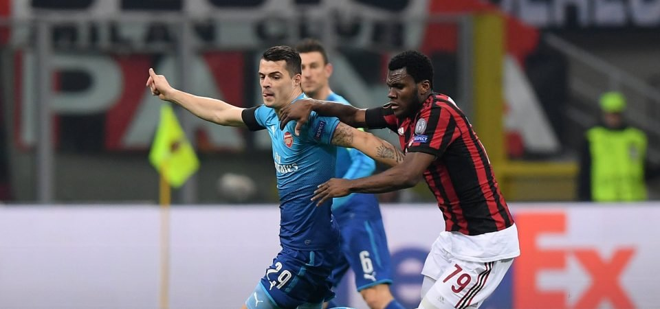 Arsenal fans enjoyed much improved performance from Granit Xhaka vs AC Milan