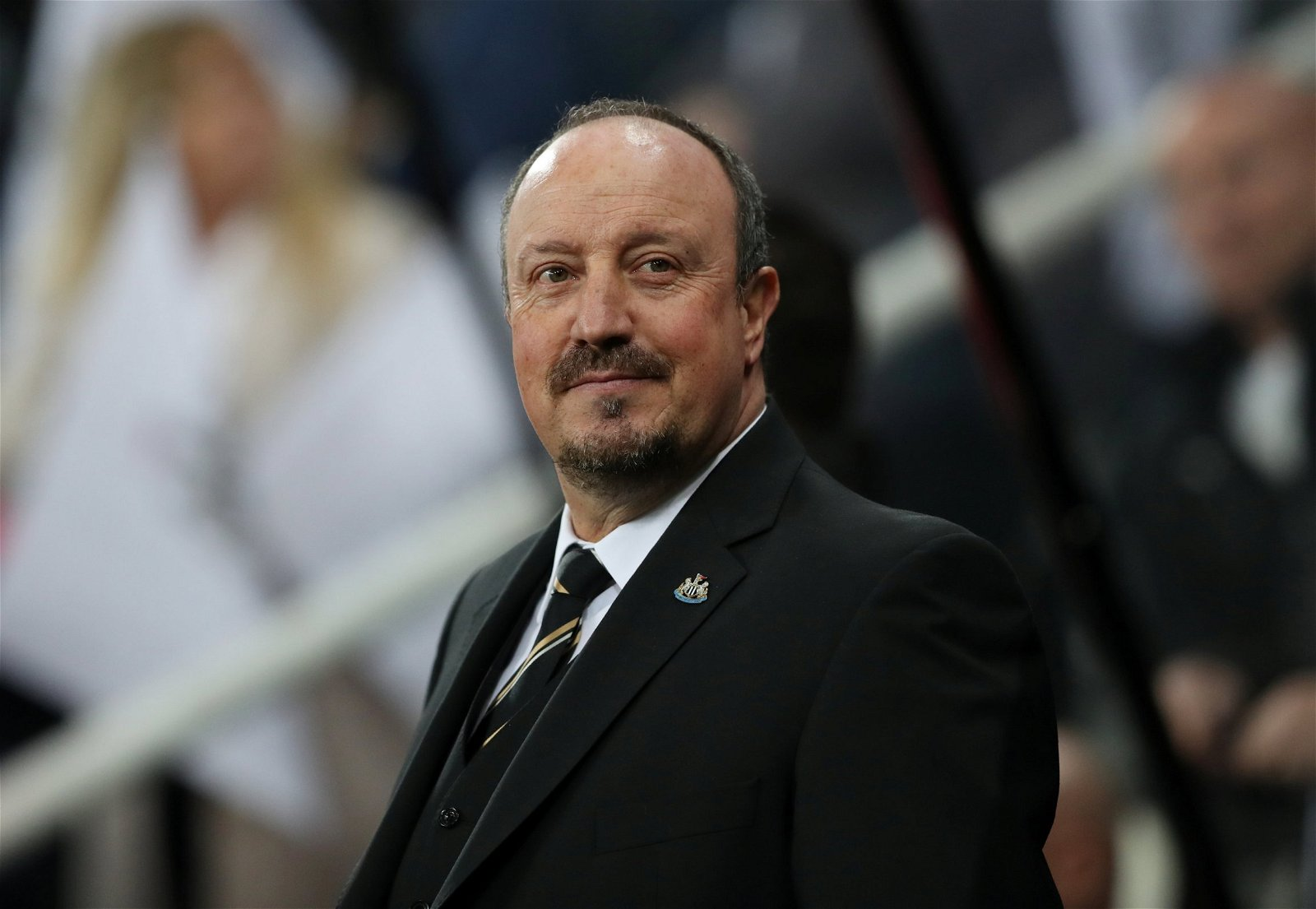 Newcastle manager Rafa Benitez looks on