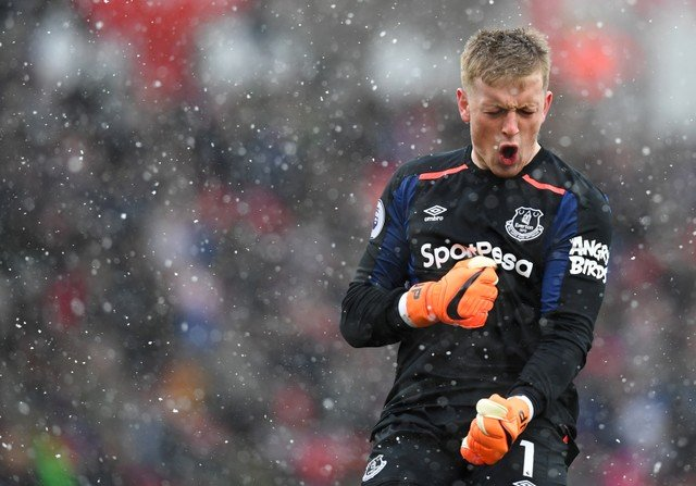 Everton fans love Pickford's comments