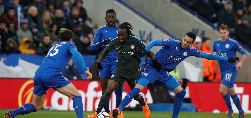 Chelsea fans have lost patience with Victor Moses after difficult cup tie