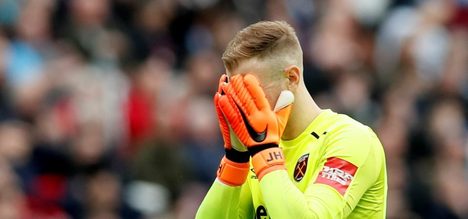 West Ham fans are not happy with Joe Hart after mistake vs Burnley