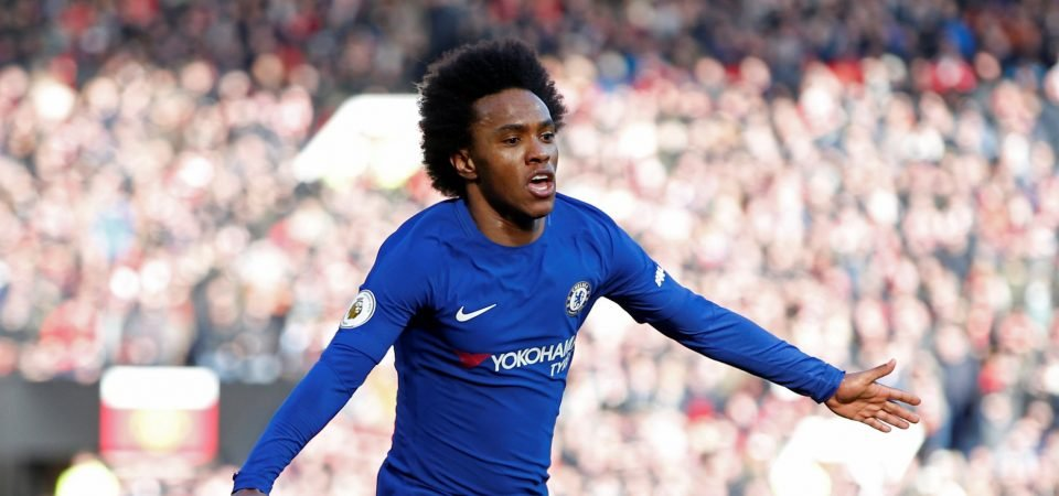 Man United fans aren't impressed with transfer links to Chelsea's Willian