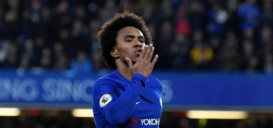 Chelsea fans are in awe of Willian after his Saturday peformance
