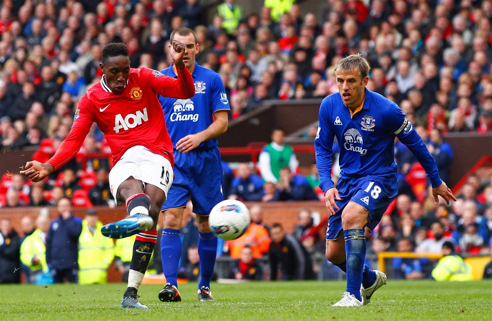 Danny Welbeck scored for Man United against Everton at Old trafford