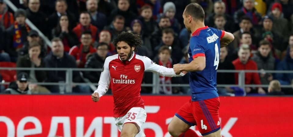 Arsenal fans full of praise for Elneny following performance against CSKA Moscow