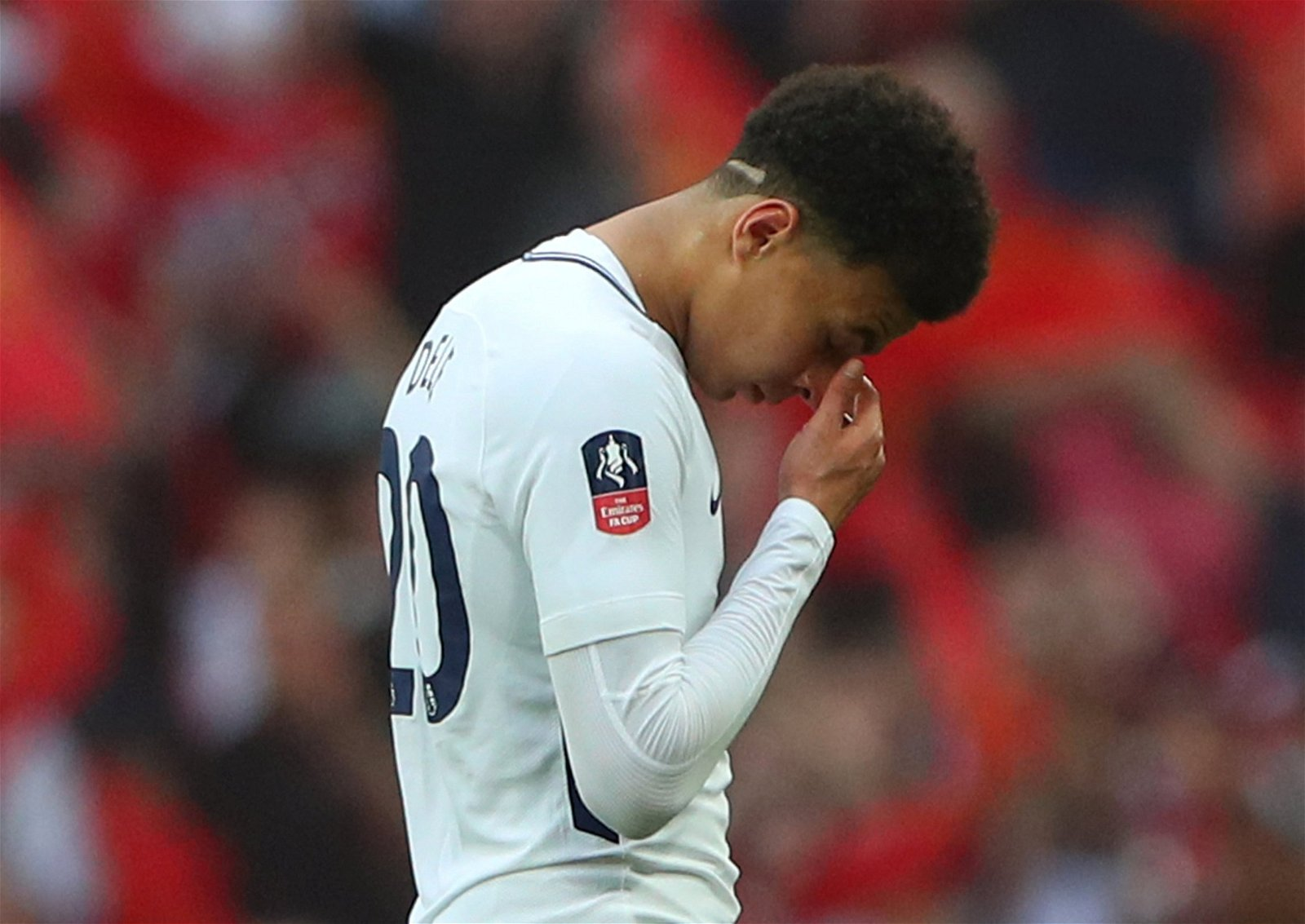 Dele Alli looks dejected following Tottenham Hotspur's FA Cup semi-final defeat to Manchester United