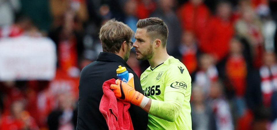 Liverpool fans pray Butland does not sign this summer following Stoke draw