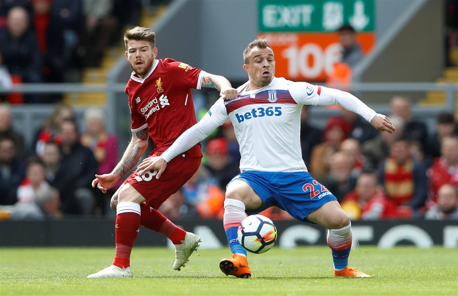 Alberto Moreno in action for Liverpool