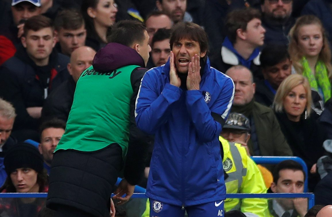 Antonio Conte barks orders from the touchline