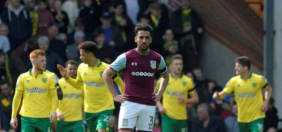 Aston Villa fans hated Neil Taylor's performance against Norwich City