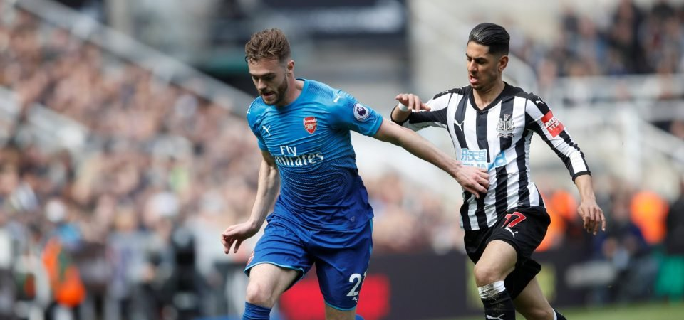 Arsenal fans hated Calum Chambers' performance vs Newcastle